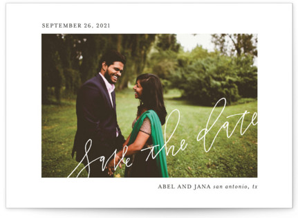Scribble Save the Date Cards