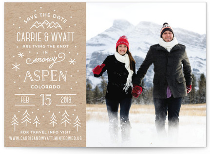 photo of Somewhere Snowy Save The Date Cards