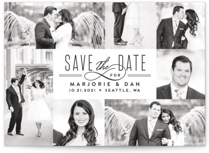 Thinline Gallery Save the Date Cards