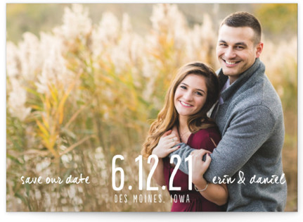 Typographic Landscape Save the Date Cards