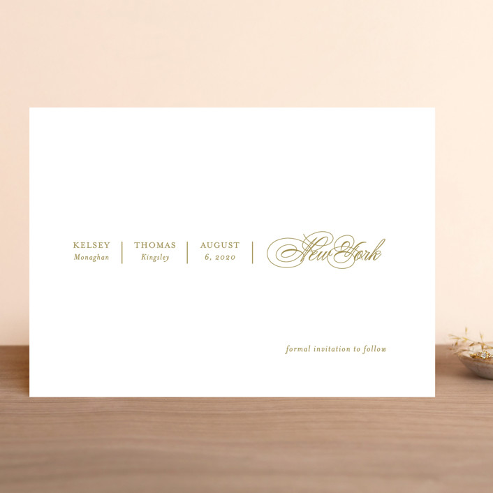 """""""White Space"""" - Save The Date Cards in Noir by Kimberly FitzSimons."""