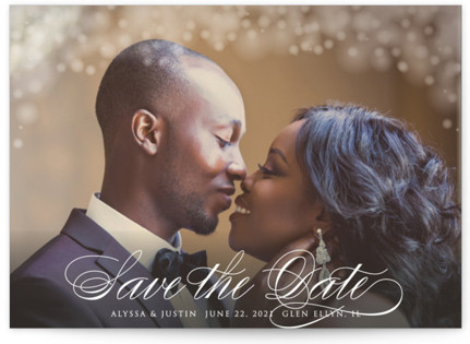 photo of Twinkling Lights Save The Date Cards