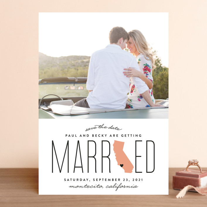 """Married in California"" - Save The Date Cards in Golden by Erica Krystek."