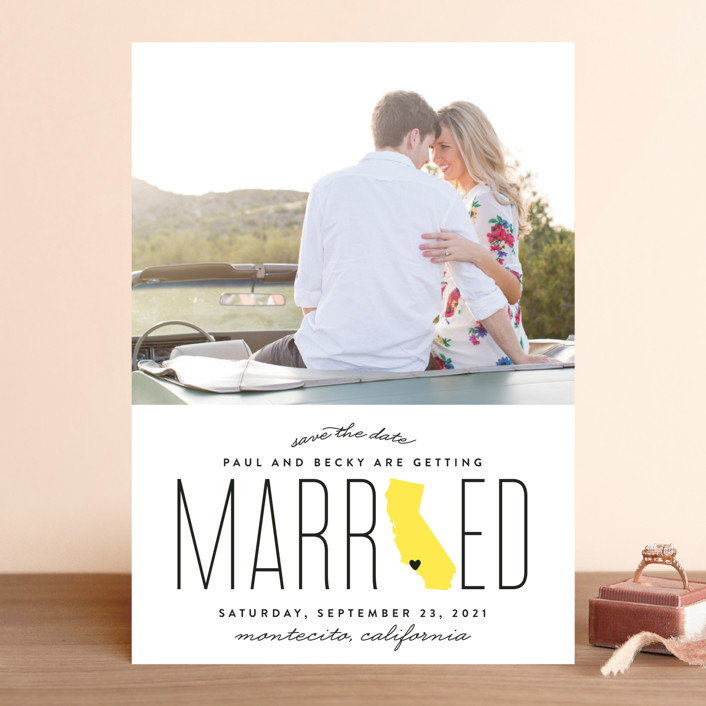 """""""Married in California"""" - Save The Date Cards in Golden by Erica Krystek."""