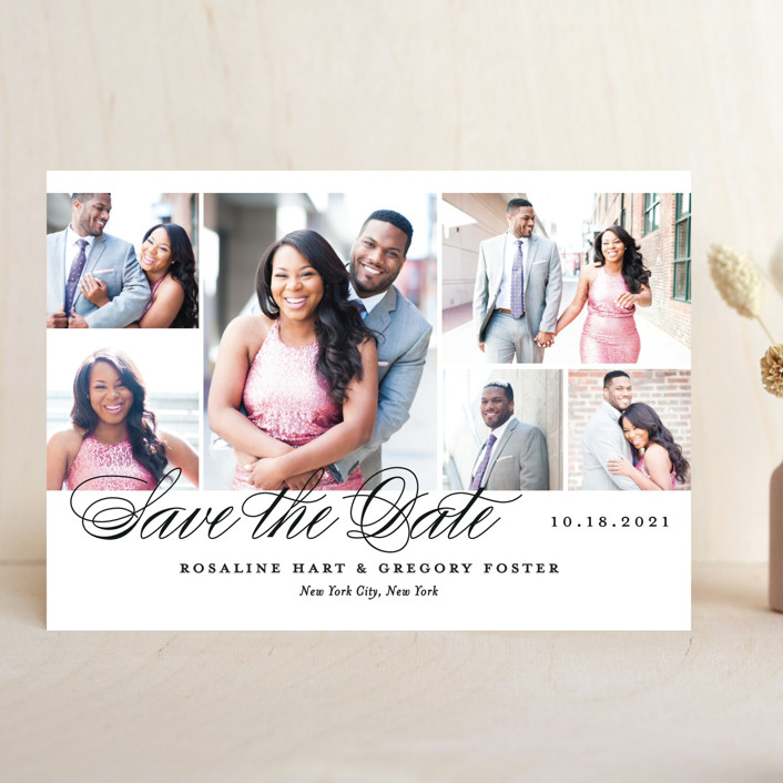 """""""Photo Block"""" - Save The Date Cards in Cloud by Jill Means."""