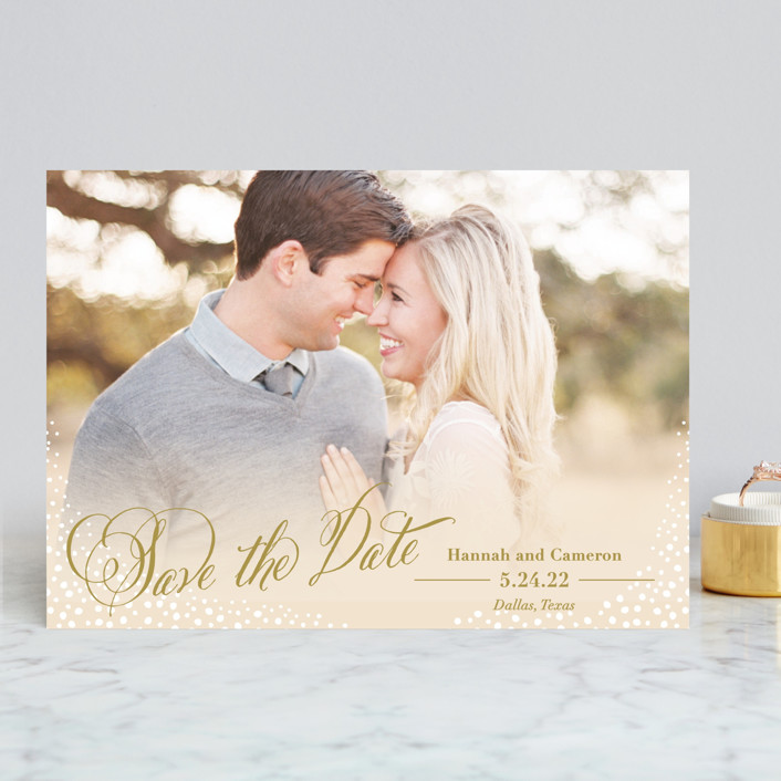 """""""Baby's Breath"""" - Save The Date Cards in Cream by Laura Hankins."""