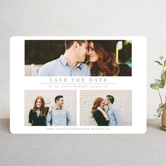 """""""The Simple Things"""" - Save The Date Cards in Cement by Giselle Zimmerman."""
