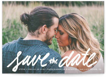 photo of Scripted With Love Save The Date Cards