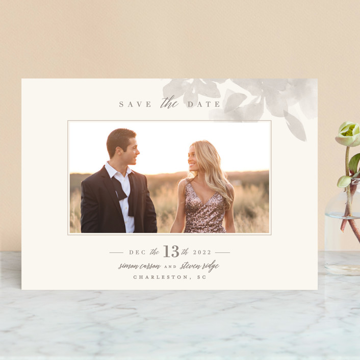 """""""Formal Frame"""" - Save The Date Cards in Mist by Lori Wemple."""