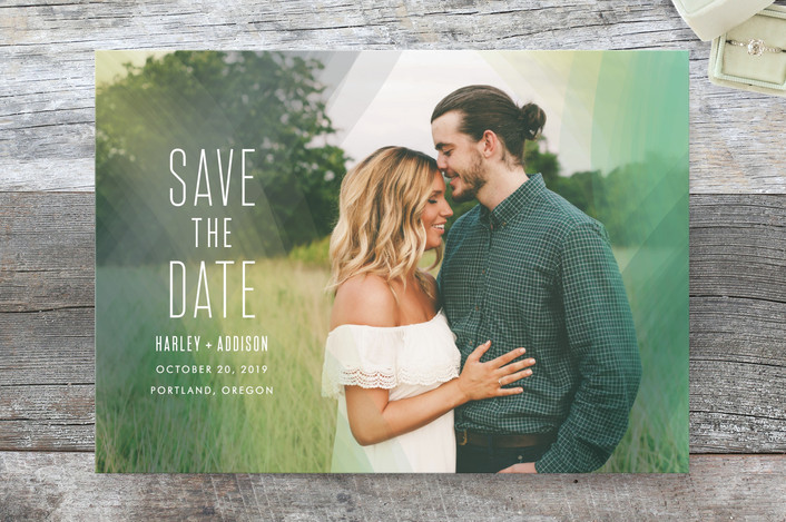 """""""Radiant Simplicity"""" - Modern Save The Date Cards in Meadow by jomolo."""