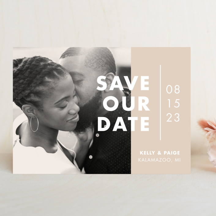 """""""Color Me Married"""" - Save The Date Cards in Dusted by Pixel and Hank."""