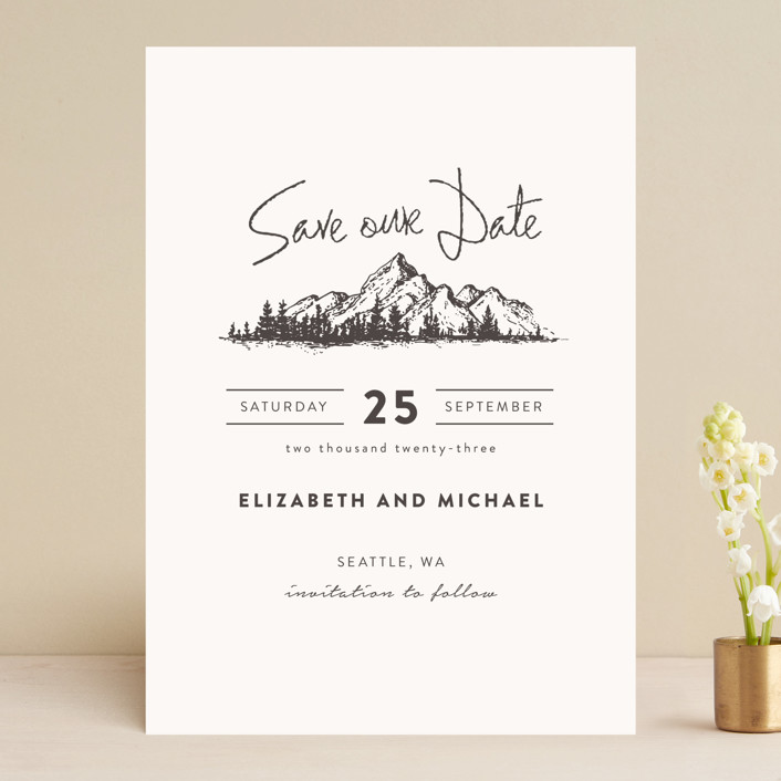 Mountains Save The Date Cards By Anastasia Makarova Minted