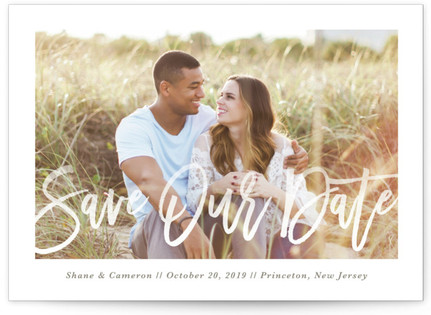 photo of Soft Script Save The Date Cards