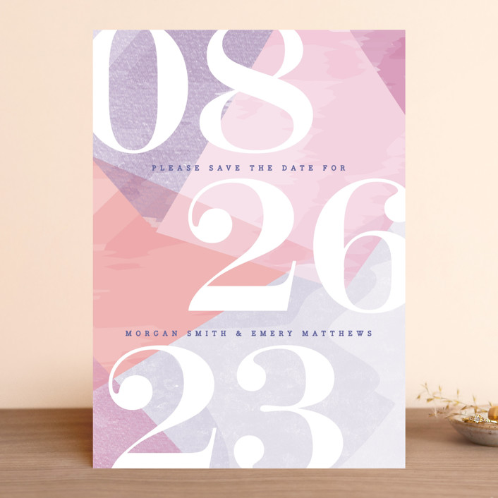 """wash of color"" - Save The Date Cards in Lilac by Karidy Walker."