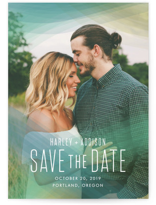 Radiant Simplicity Save the Date Cards