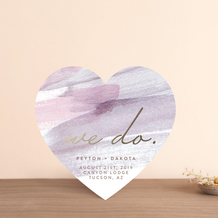 """""""Canyon"""" - Save The Date Cards in Orchid by Kelly Nasuta."""