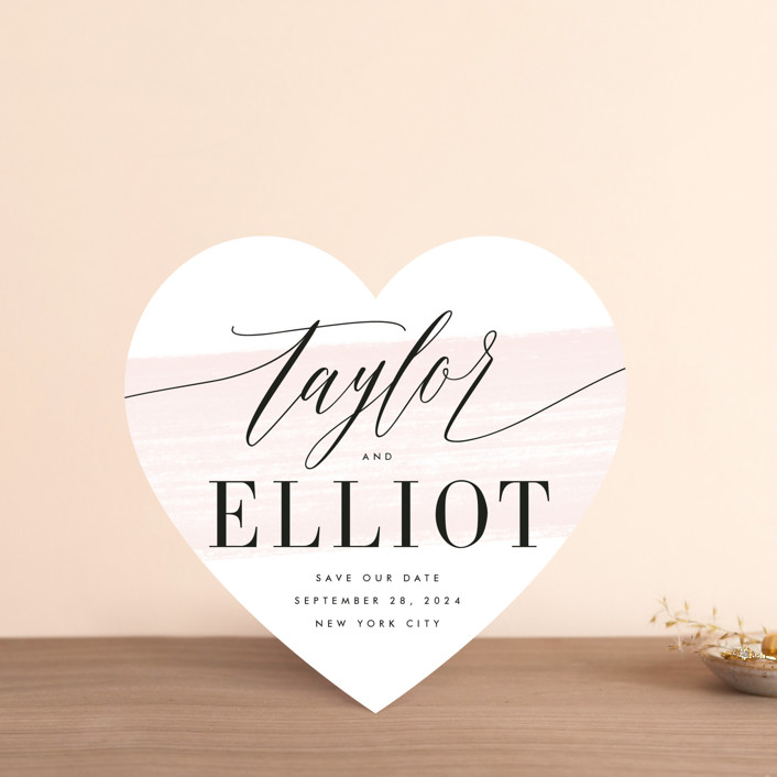 """""""Effervescent"""" - Save The Date Cards in Blush by Kristie Kern."""