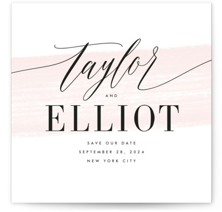 Effervescent Save The Date Cards