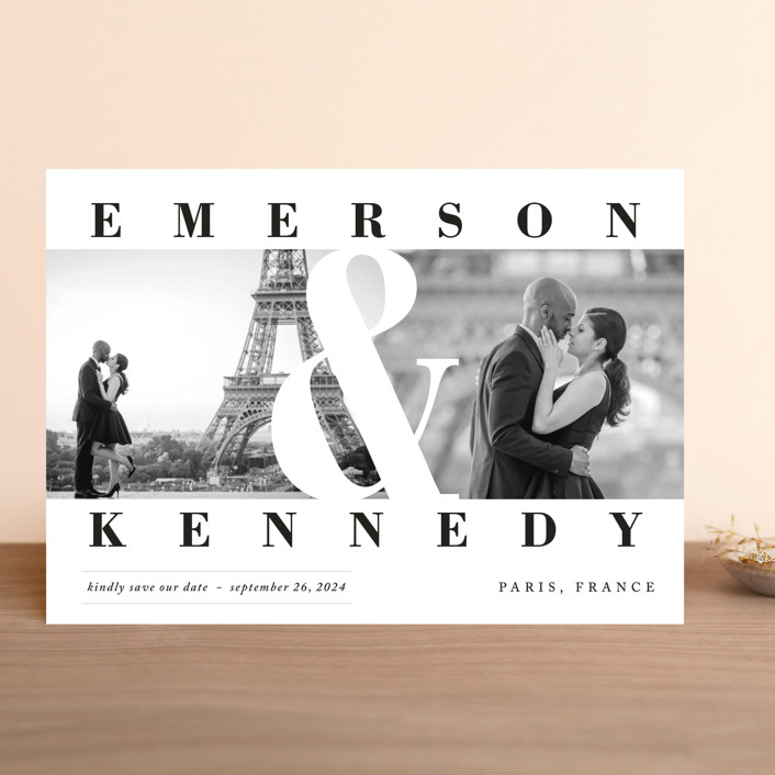"""Timeless"" - Save The Date Cards in Diamond by Playground Prints."