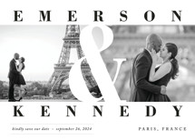 Timeless Save the Date Cards By Playground Prints