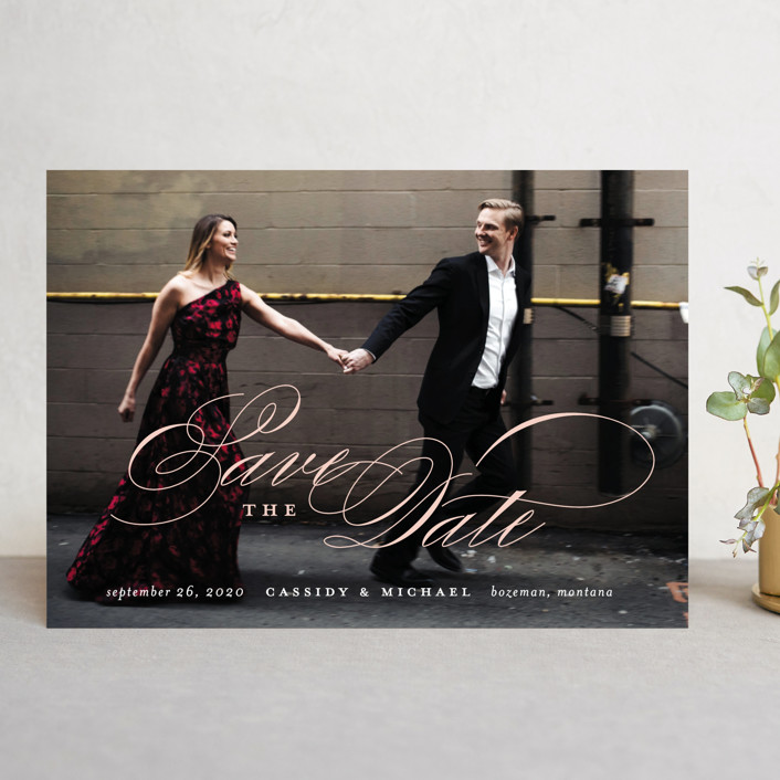 """""""Eternity"""" - Save The Date Cards in Quartz by Jessica Williams."""