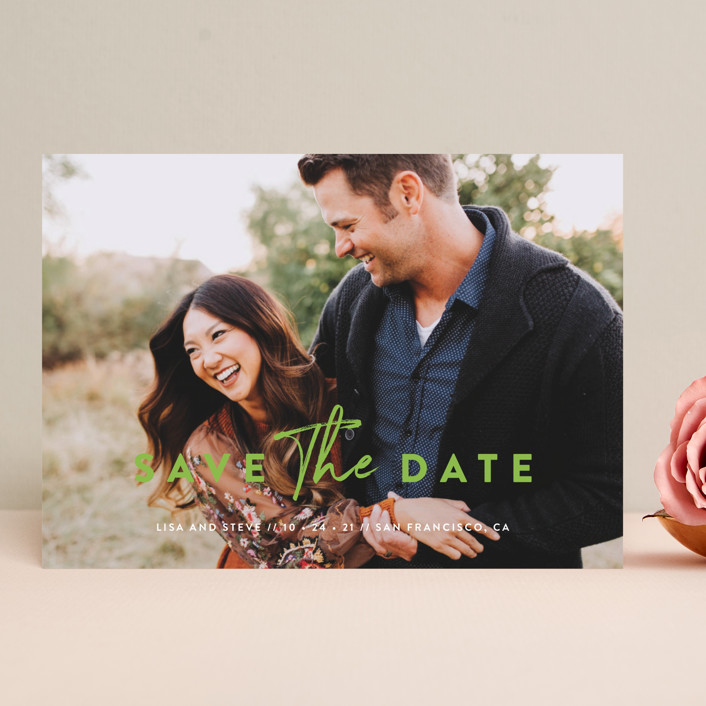 """""""Modern Classic"""" - Save The Date Cards in Porcelain by Chryssi Tsoupanarias."""