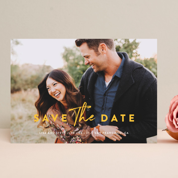 """Modern Classic"" - Save The Date Cards in Porcelain by Chryssi Tsoupanarias."