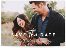 This is a white save the date by Chryssi Tsoupanarias called Modern Classic with standard printing on smooth signature in standard.