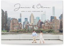This is a black save the date by Ann Gardner called Breezy with standard printing on smooth signature in standard.