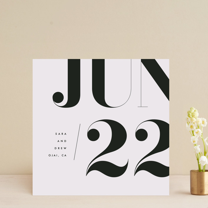 """""""calendrier"""" - Save The Date Cards in Cotton by kelli hall."""