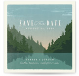 This is a green save the date by Karidy Walker called vintage poster with standard printing on signature in standard.