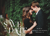Stacked Serif Save the Date Cards By Lauren Chism