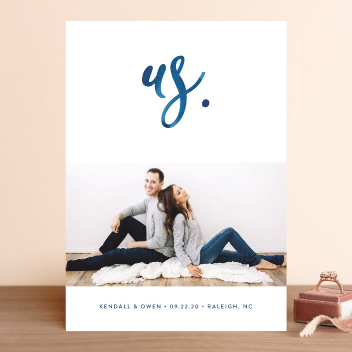 simply us save the date cards by jessica maslyn minted