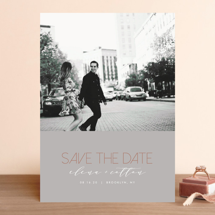 """""""Urban Type"""" - Save The Date Cards in Sugar by AK Graphics."""
