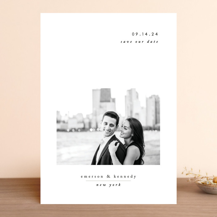 """""""Minimal Romance"""" - Save The Date Cards in Cloud by Playground Prints."""