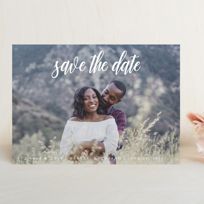 """""""mystic"""" - Save The Date Cards in Flagstone by Kate Ross."""