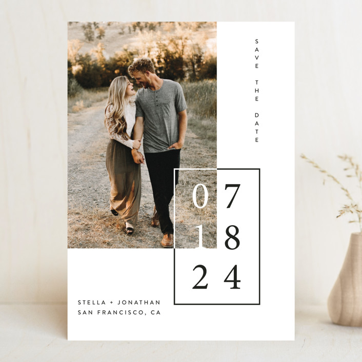 """Folio"" - Save The Date Cards in Noir by lulu and isabelle."