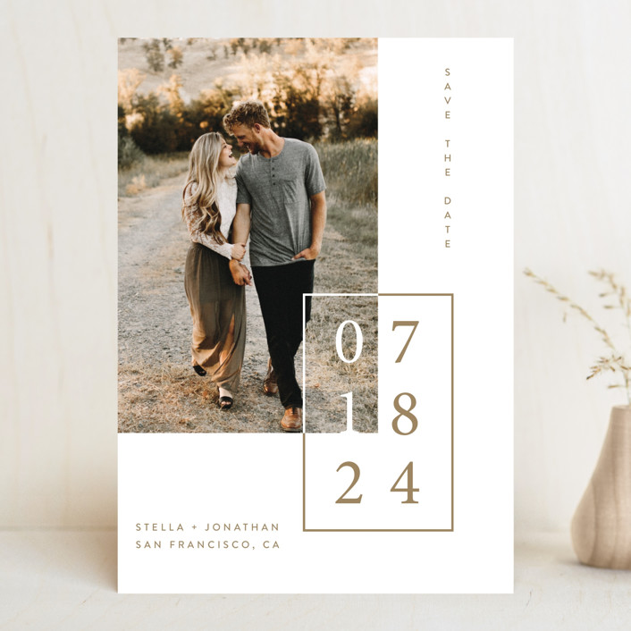 """""""Folio"""" - Save The Date Cards in Noir by lulu and isabelle."""