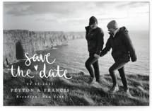 This is a white save the date by Claudia Orengo called Lovely couple with standard printing on smooth signature in standard.
