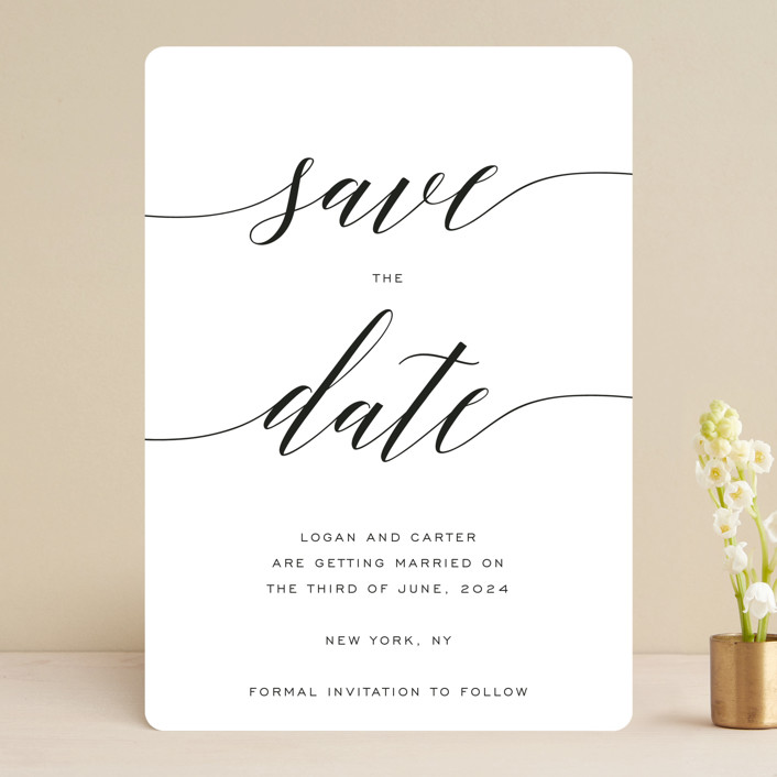 """""""Someone Like You"""" - Save The Date Cards in Pearl by Design Lotus."""