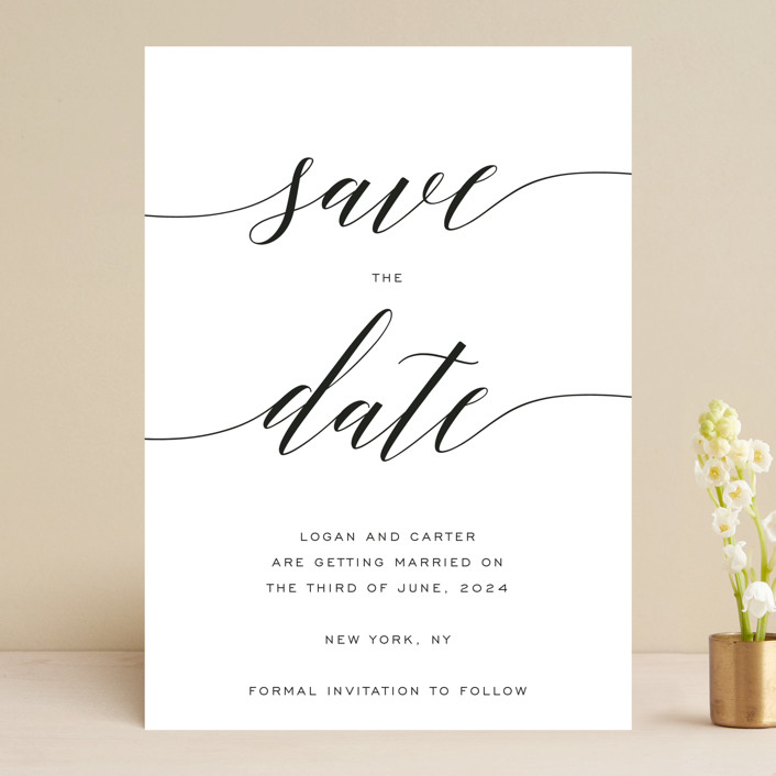 """Someone Like You"" - Save The Date Cards in Pearl by Design Lotus."