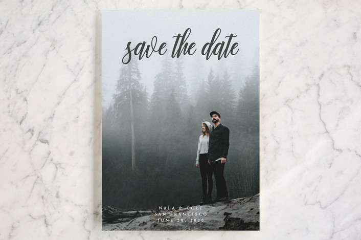 """""""mystic"""" - Classical, Formal Save The Date Cards in Flagstone by Kate Ross."""