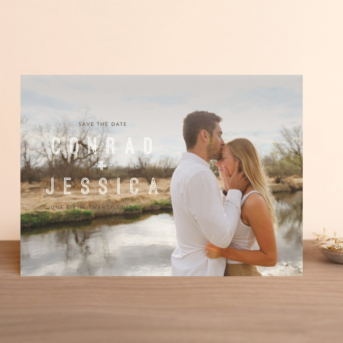 """""""Together"""" - Modern Save The Date Cards in Coffee by Eric Clegg."""
