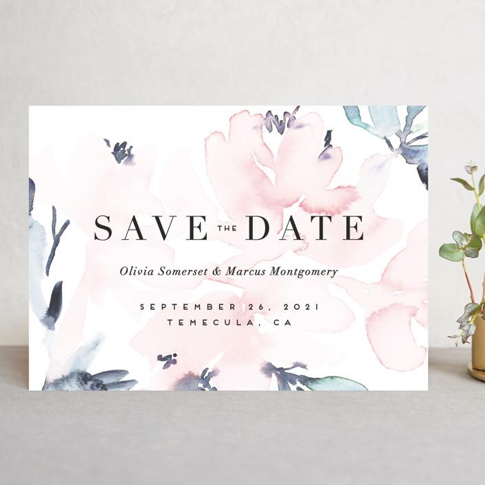 """""""Florista Modernista"""" - Save The Date Cards in Azalea by Petra Kern."""