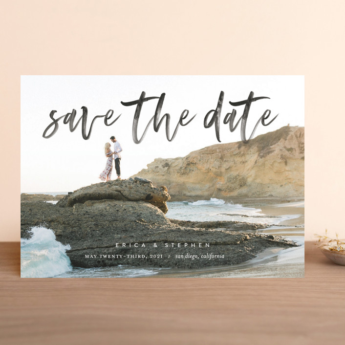"""Scripted"" - Save The Date Cards in Onyx by Eric Clegg."