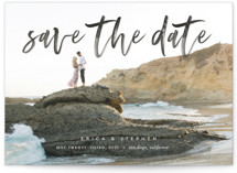 This is a black save the date by Eric Clegg called Scripted with standard printing on smooth signature in standard.
