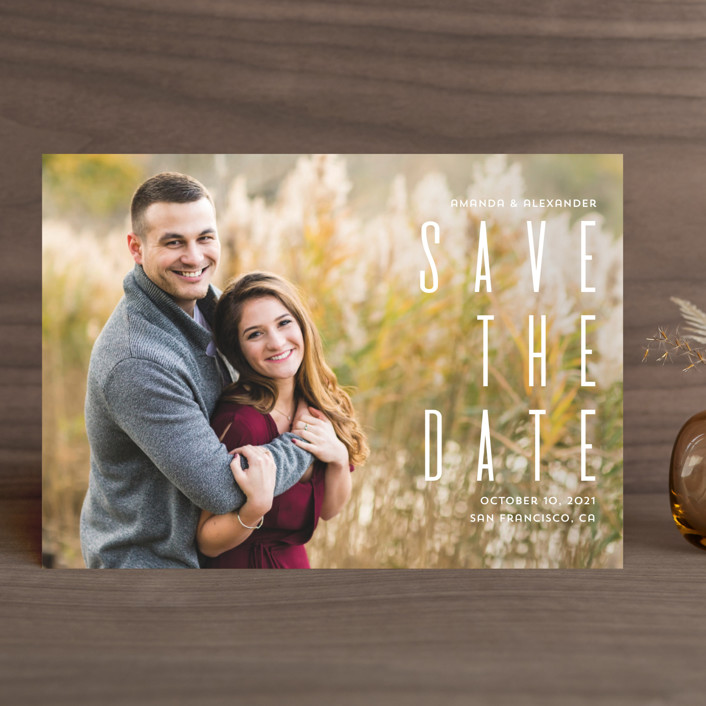 """""""Save the date"""" - Save The Date Cards in Fog by Remioni."""