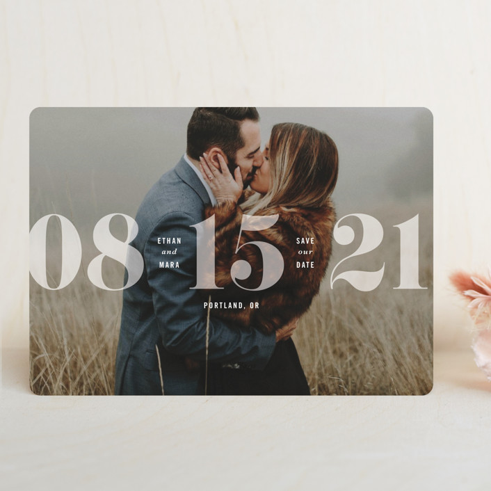 """""""All About that Date"""" - Save The Date Cards in Opal by Hooray Creative."""