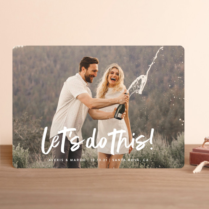 """""""Do This"""" - Modern Save The Date Cards in Silk by Olivia Raufman."""
