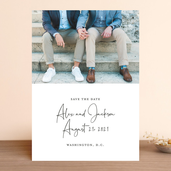 """Love Letter"" - Save The Date Cards in Ivory by Sandra Picco Design."